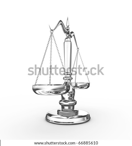 Scale - 3d render - stock photo