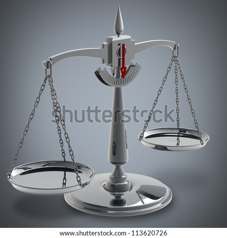 Scale High resolution High resolution 3D render - stock photo