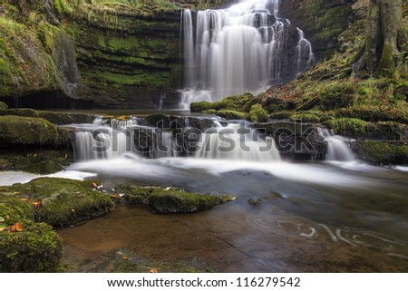 Scaleber Force, The Yorkshire Dales National Park - stock photo