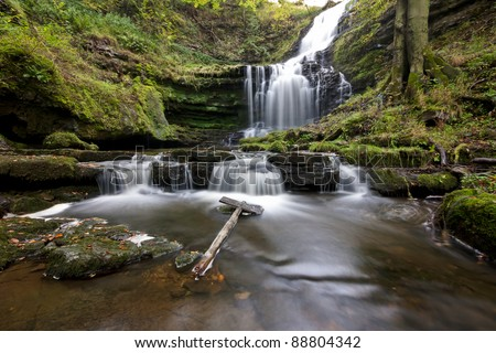 Scaleber Force waterfall, Yorkshire Dales - stock photo