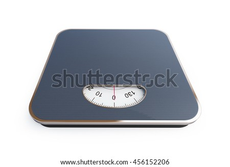 scales. 3D rendering on a white background - stock photo