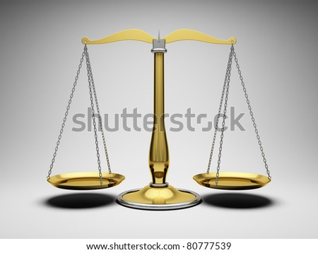 Scales justice - stock photo