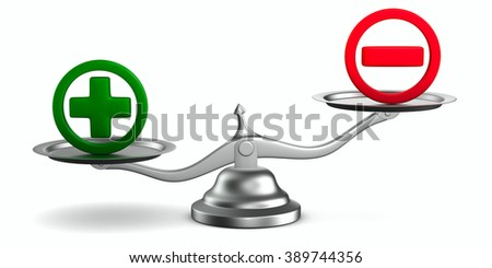 Scales on white background. Isolated 3D image - stock photo