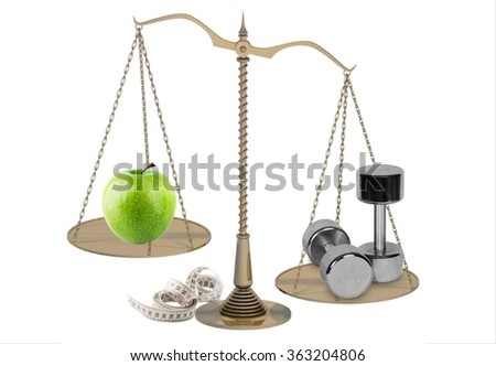 scales weight loss - stock photo