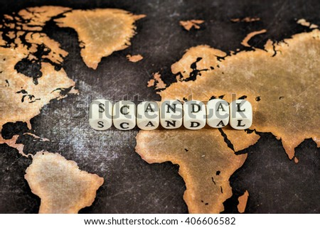 SCANDAL on grunge world map