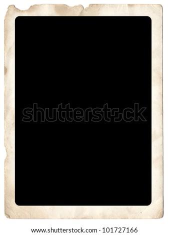 Scanned Vintage photo card. Maximum DPI. - stock photo