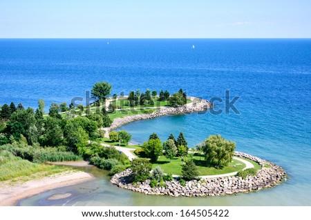 Scarborough Bluffs, Toronto, Ontario, Canada - stock photo