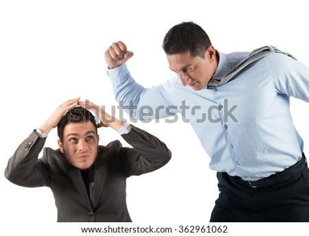 Scare employees - stock photo