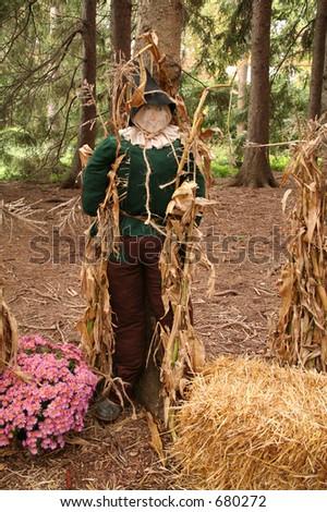 Scarecrow lifesize figure - stock photo