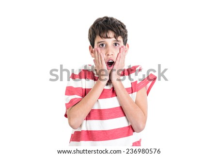 Scared boy - stock photo