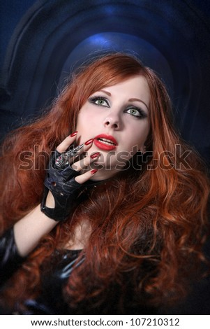 Scared girl - stock photo