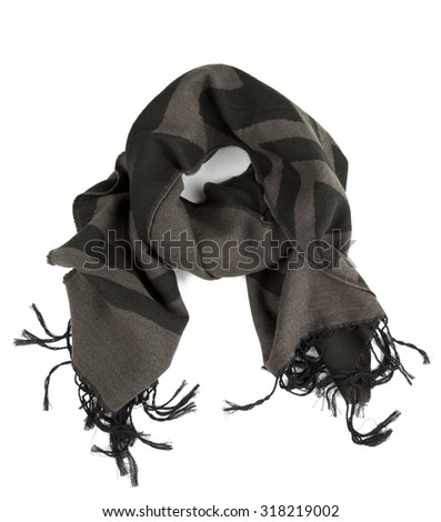 scarf isolated on white background - stock photo