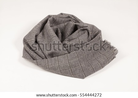 Scarf isolated on white background, scarf top view .