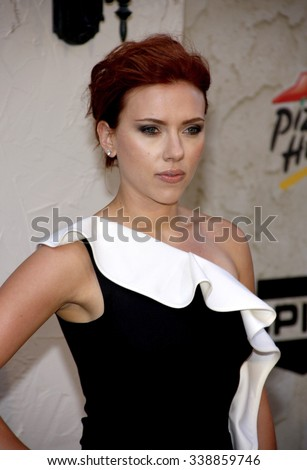 "Scarlett Johansson at the Spike TV's 5th Annual 2011 ""Guys Choice"" Awards held at the Sony Pictures Studios in Los Angeles, California, United States on June 4, 2011.   - stock photo"