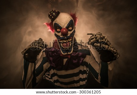 Scary clown. The clown suit.