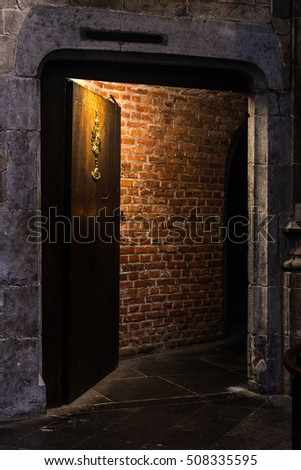 Scary Door Underground Dungeon Stock Photo (Royalty Free) 508335595 - Shutterstock & Scary Door Underground Dungeon Stock Photo (Royalty Free) 508335595 ...