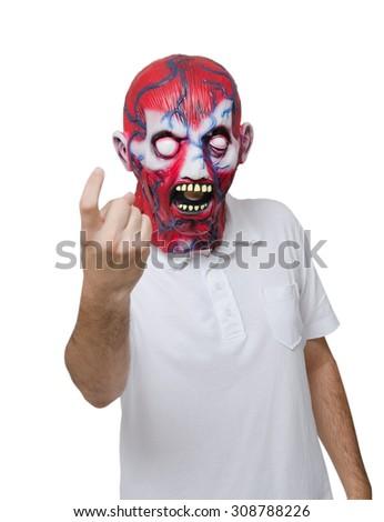 Scary face - stock photo