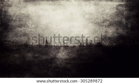 scary grunge landscape - stock photo