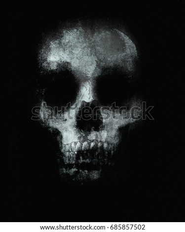 Scary Skull Wallpaper Halloween Background With Spooky