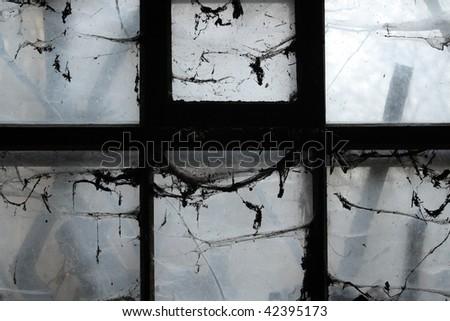Scary window - stock photo