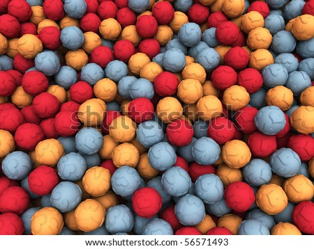 Scattered Love Balls - stock photo
