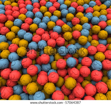 Scattered Question Balls - stock photo