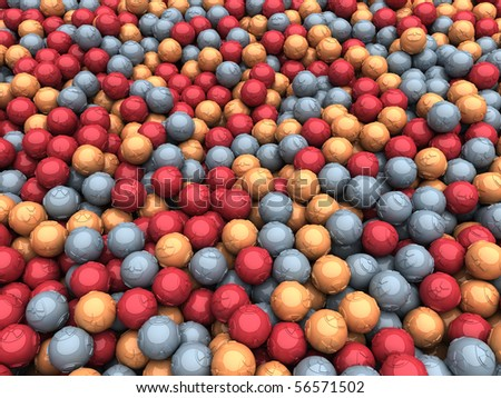 Scattered Radiation Balls - stock photo