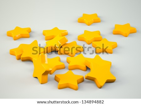 Scattered stars on grey background