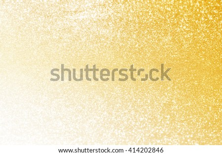 scattering of golden sand, gradient background of golden sand - stock photo