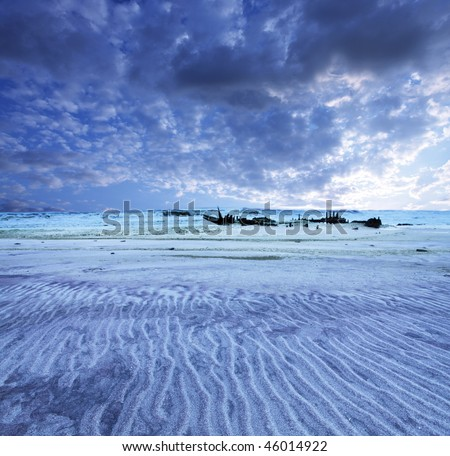 sceleton coast - stock photo