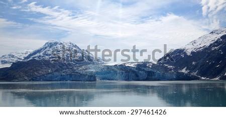 Scene from Glacier Bay, Alaska - stock photo