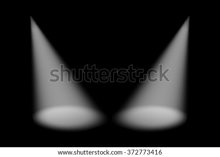 Scene illumination from above and below, effects on a plaid dark  background. Bright lighting with spotlights. 4 - stock photo