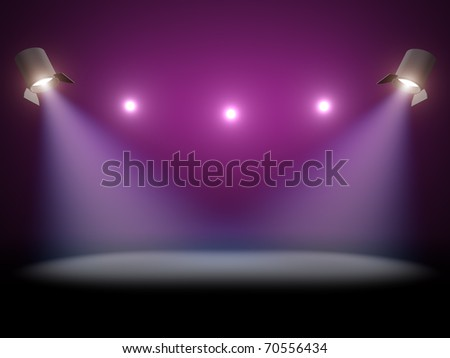 Scene lighting - stock photo