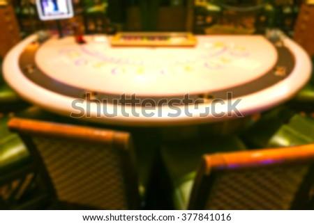 scene of gambling table  in casino.  -blurred. - stock photo
