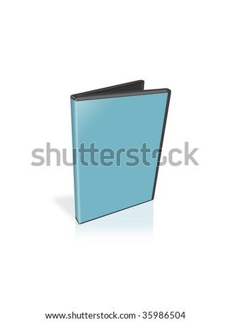 scene of the blue dvd-box isolated on white