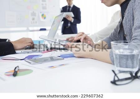Scene of the modern enterprise - stock photo
