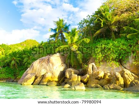 Scene Summer Beach - stock photo