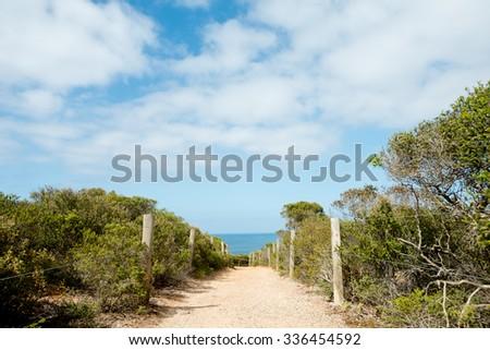 Scenery along the Great Ocean Road in  Victoria, Australia.  - stock photo