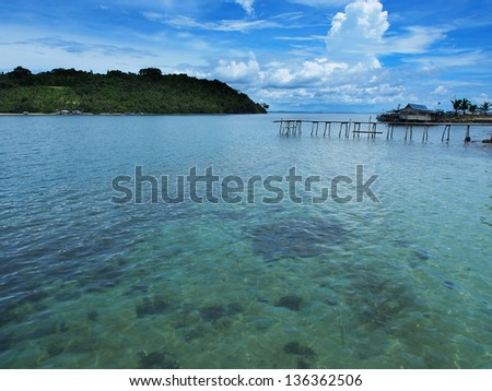 Scenery at Banggi Island, Borneo - stock photo