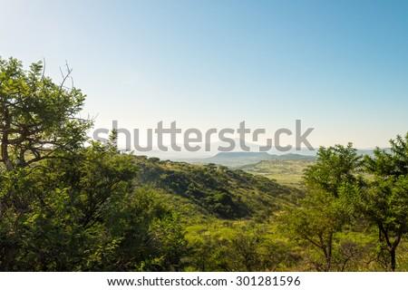 scenery at Nambiti game reserve, Ladysmith, South Africa - stock photo