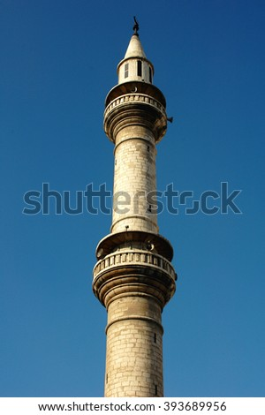 Scenery of a famous mosque tower in Anman