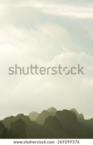Scenery of Halong Bay, Vietnam - stock photo