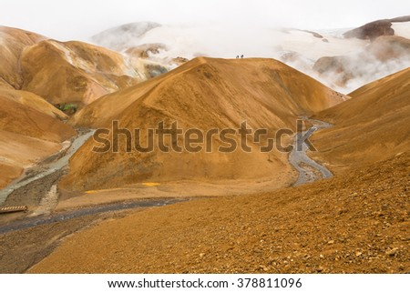 Scenery of Kerlingarfjoll mountains, Iceland - stock photo