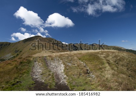 Scenery of the Low Tatras, which is in Slovakia.