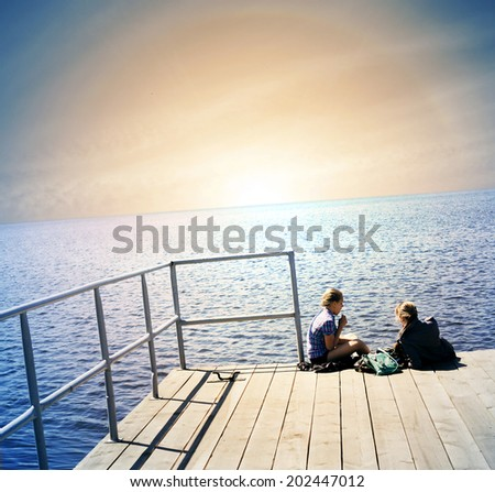 Scenic. - stock photo