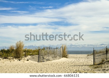 Scenic Beach Scene in New Jersey - stock photo