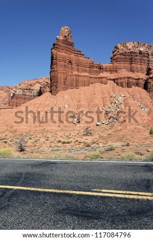Scenic desert drive, Utah, USA - stock photo