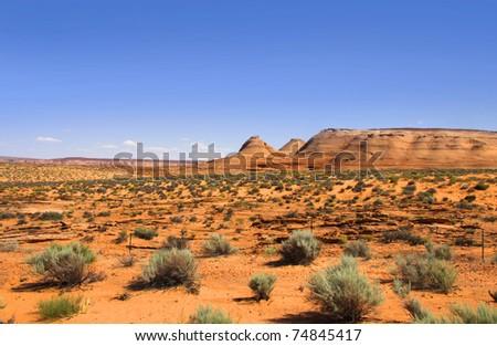 Scenic Glen canyon recreation area in Utah - stock photo