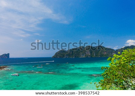 Scenic  Holidays Exotic Backdrop  - stock photo