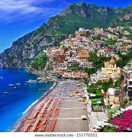 scenic Italy - Positano - stock photo
